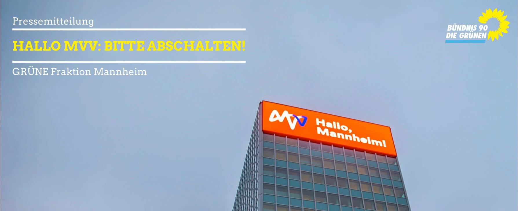 Sharepic LED-Tafel MVV-Hochhaus