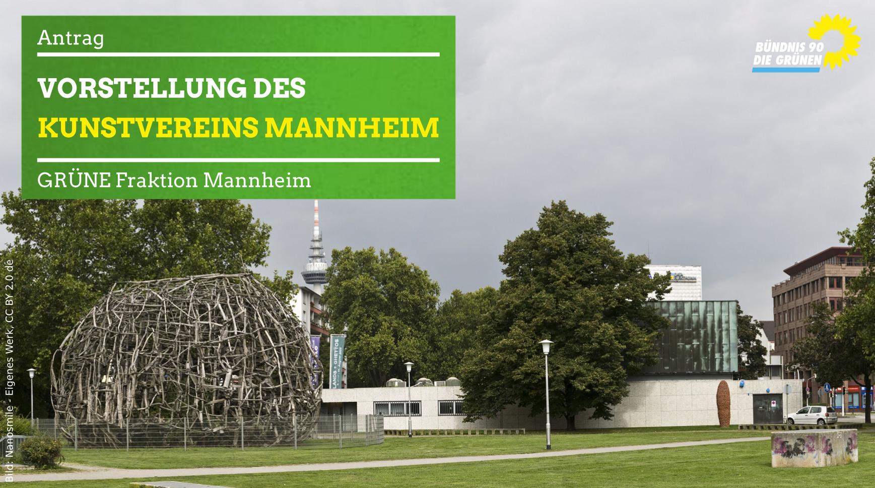 Mannheimer Kunstverein und Treibholz-Kunstwerk von Professor Edoga