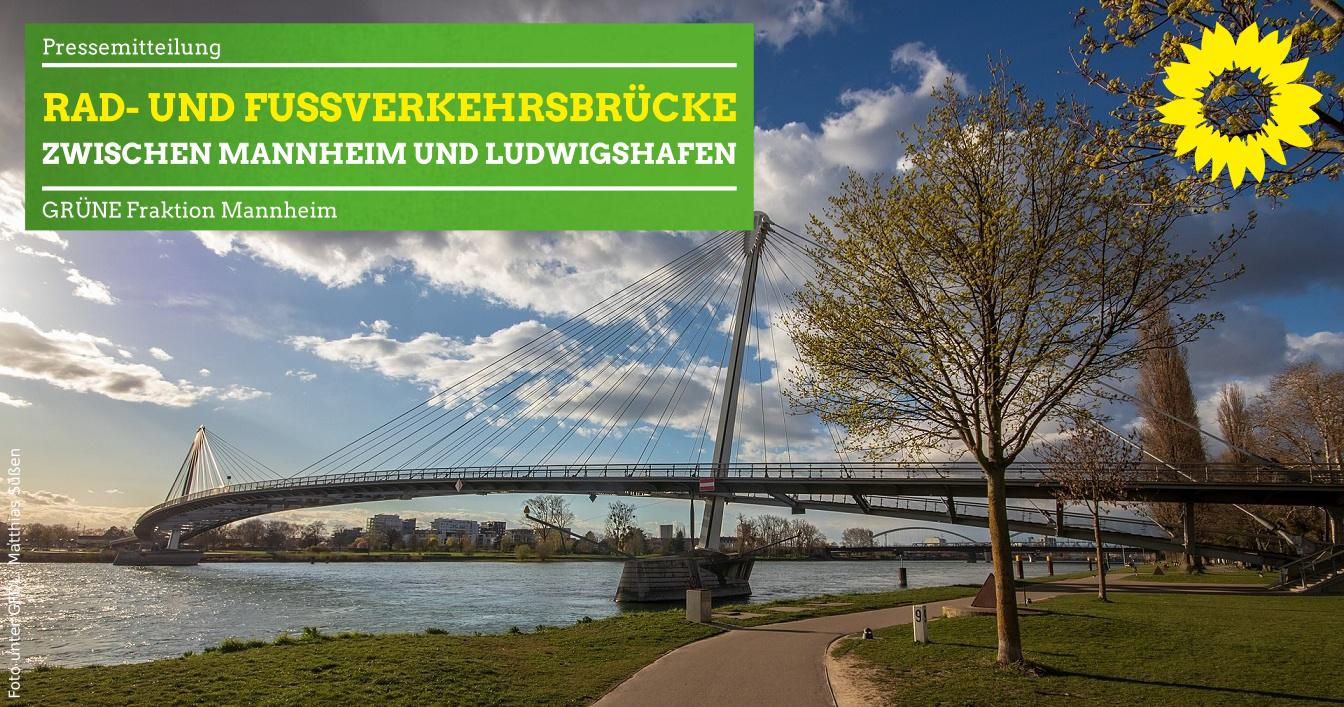 Symbolbild: Rad- und Fußverkehrsbrücke über den Rhein bei Kehl
