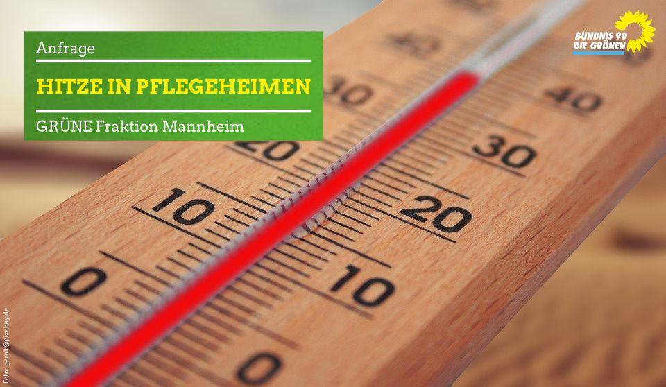 Thermometer, das knapp 40 Grad Celsius anzeigt
