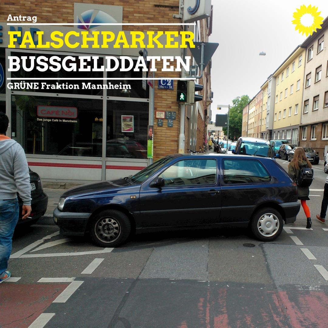 Falschparker vor Fußgängerampel