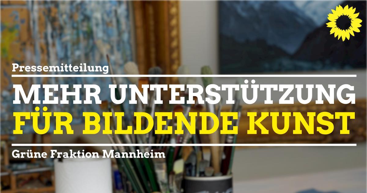 Atelier, im Vordergrund Schrift Mehr Unterstützung für Bildende Kunst