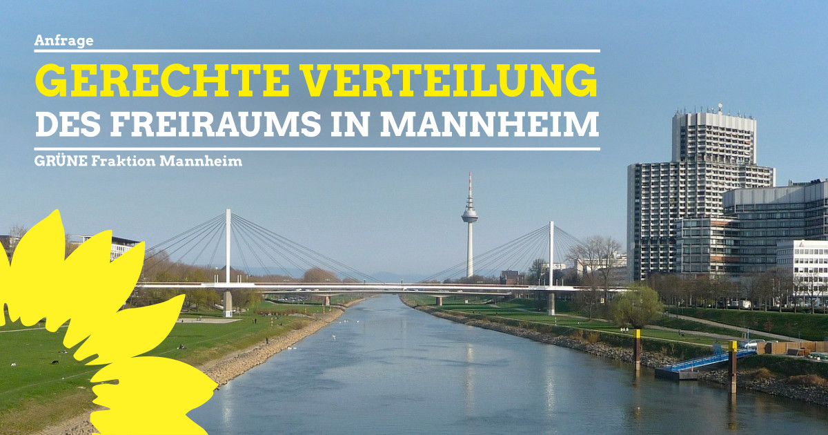 Gerechte Verteilung des Freiraums in Mannheim
