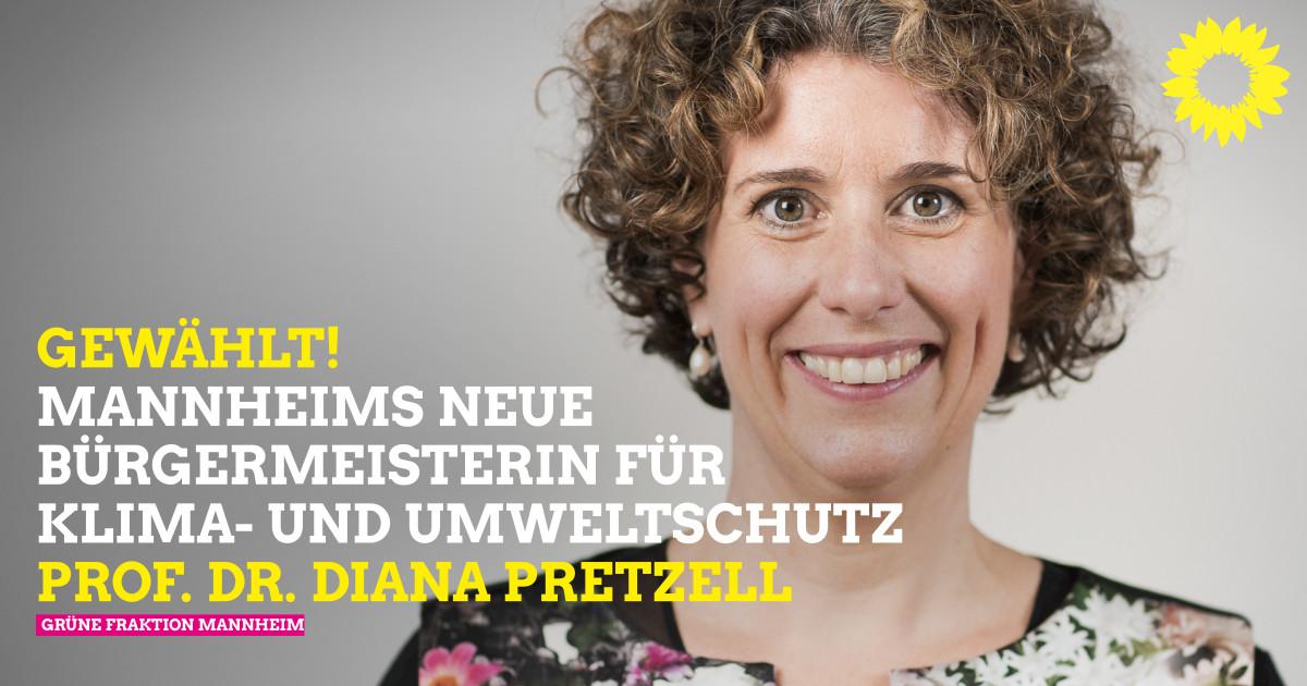 Prof. Dr. Diana Pretzell ist zweite GRÜNE Umweltbürgermeisterin