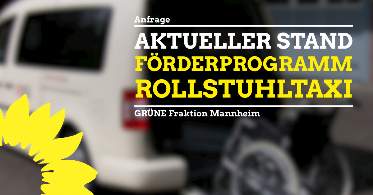 Anfrage Stand Förderprogramm Rollstuhl-Taxi