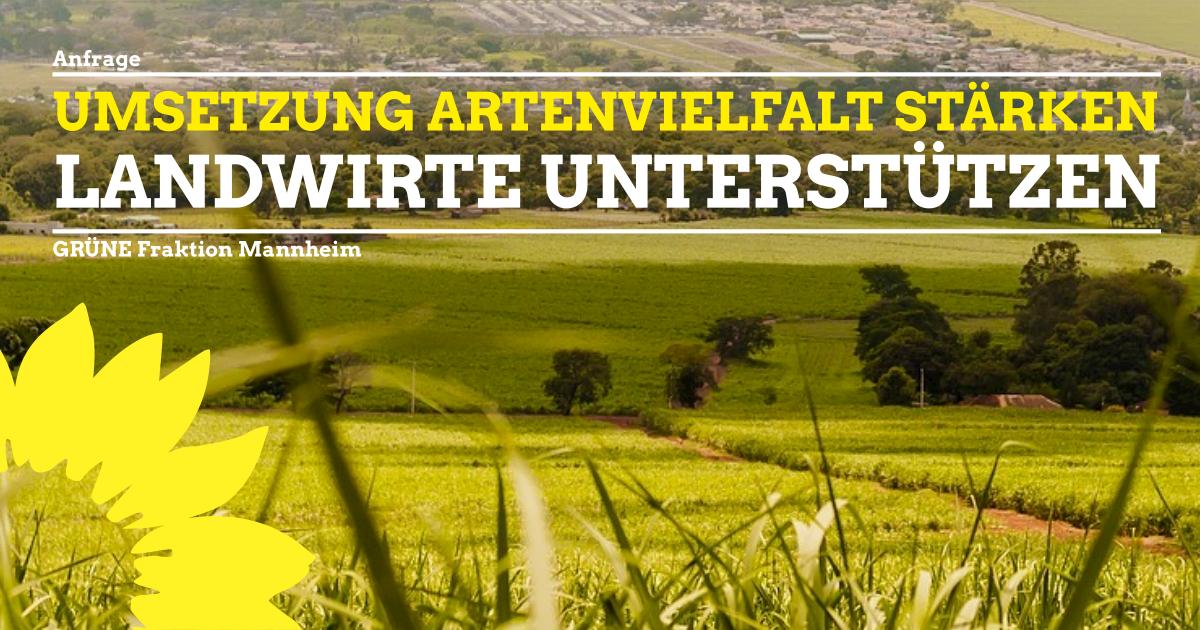 Umsetzung Artenvielfalt stärken – Landwirte unterstützen