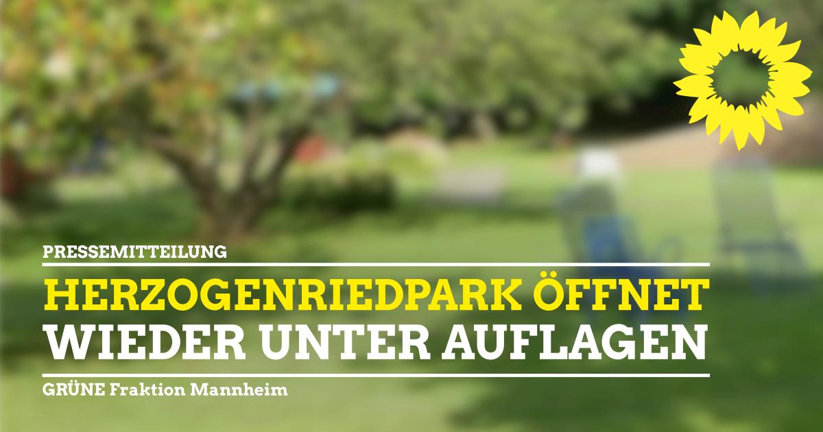 Herzogenriedpark wieder offen!