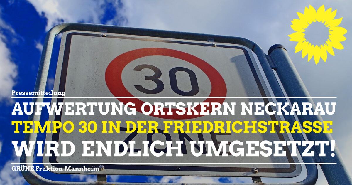 Tempo 30 in der Friedrichstraße