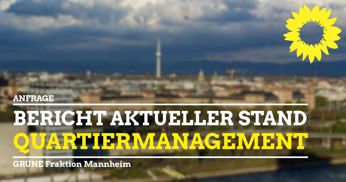 Stand Entwicklung Quartiermanagement