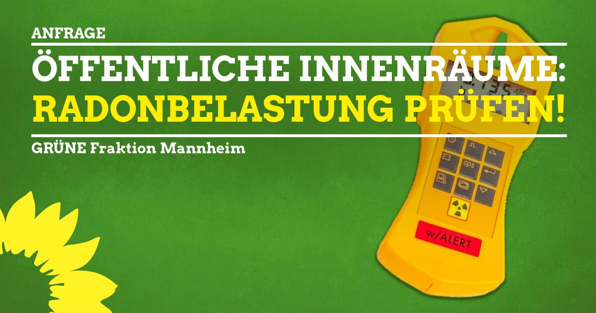 Radonbelastung in inenräumen Mannheim