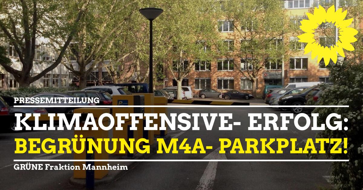 Klimaoffensive M4A Parkplatz begrünen