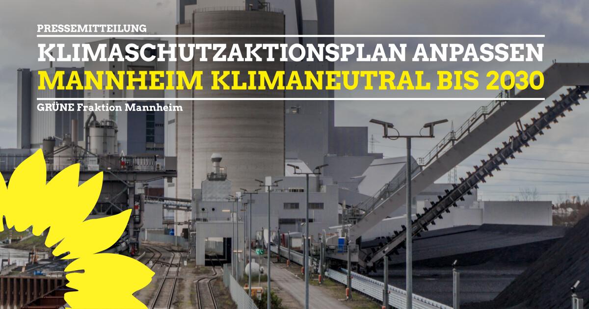 Mannheim klimaneutral bis 2030