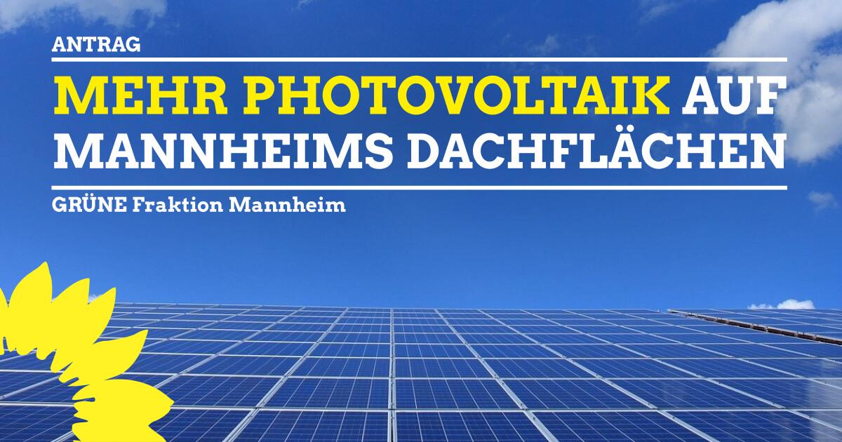Mehr Photovoltaik auf Mannheims Dächern