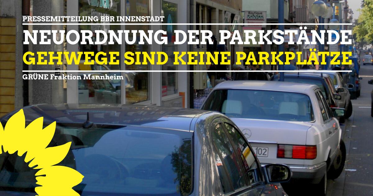 Pressemitteilung Neuordnung Parkstände