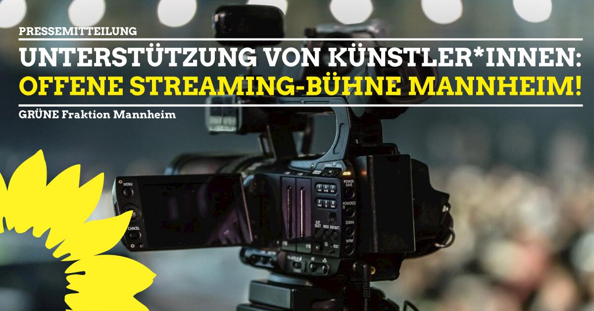 Pressemitteilung offene Streaming- Bühne Mannheim