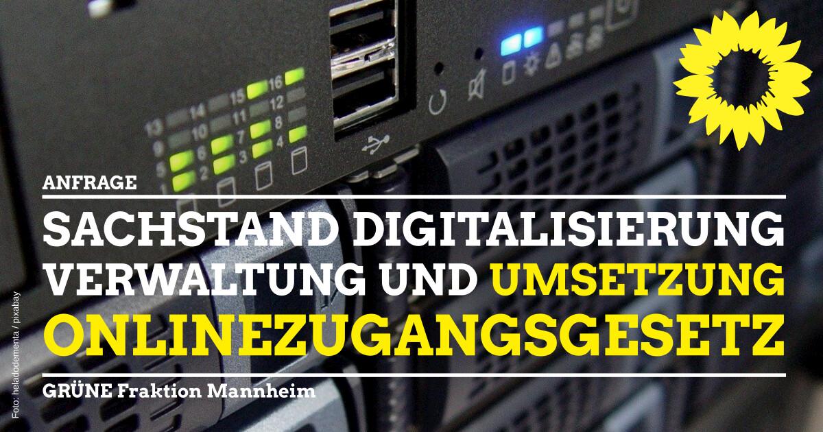 Sachstand Digitalisierung Verwaltung und OZG